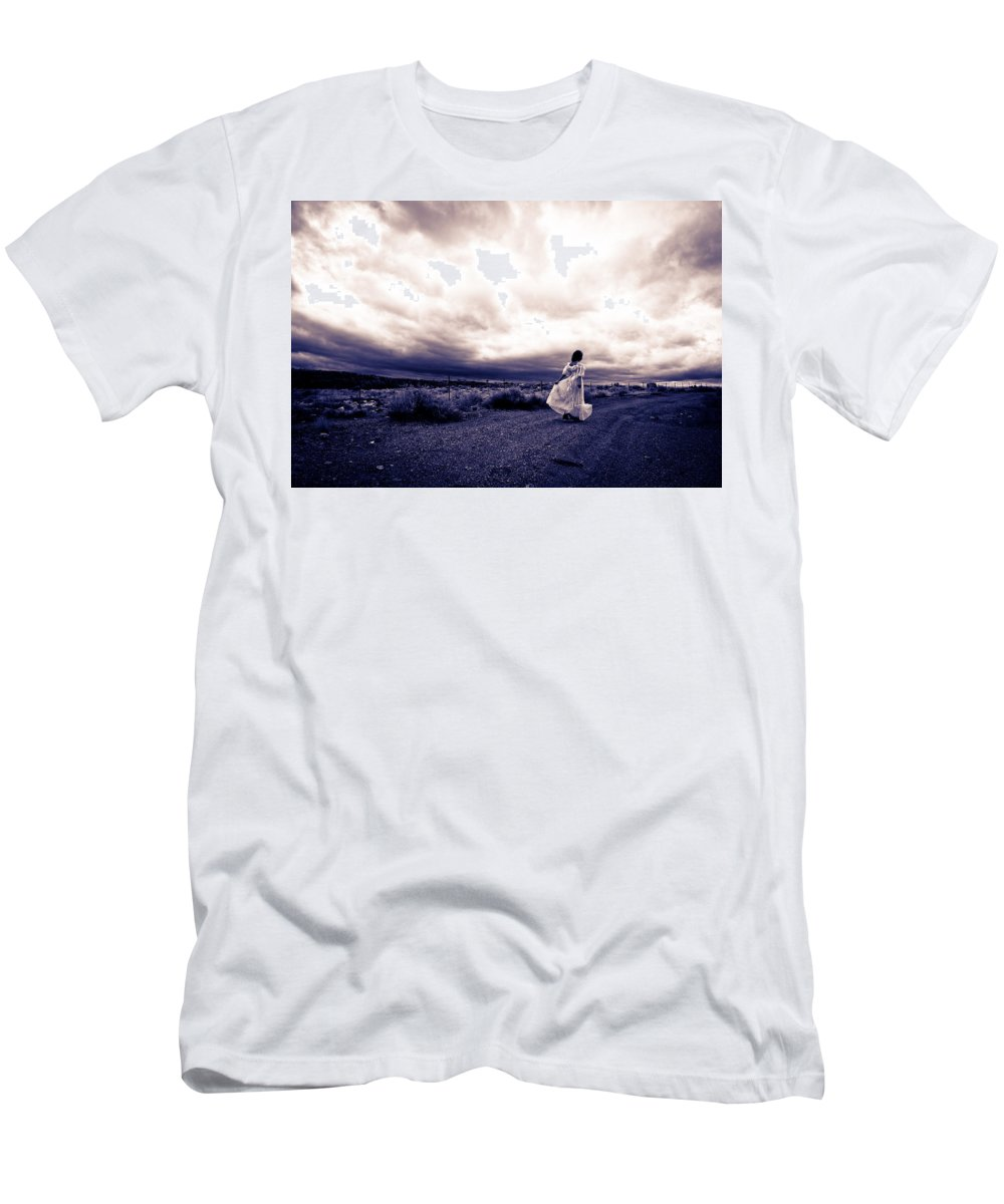 Storm Walk Men's T-Shirt (Athletic Fit) featuring the photograph Storm Walk by Scott Sawyer
