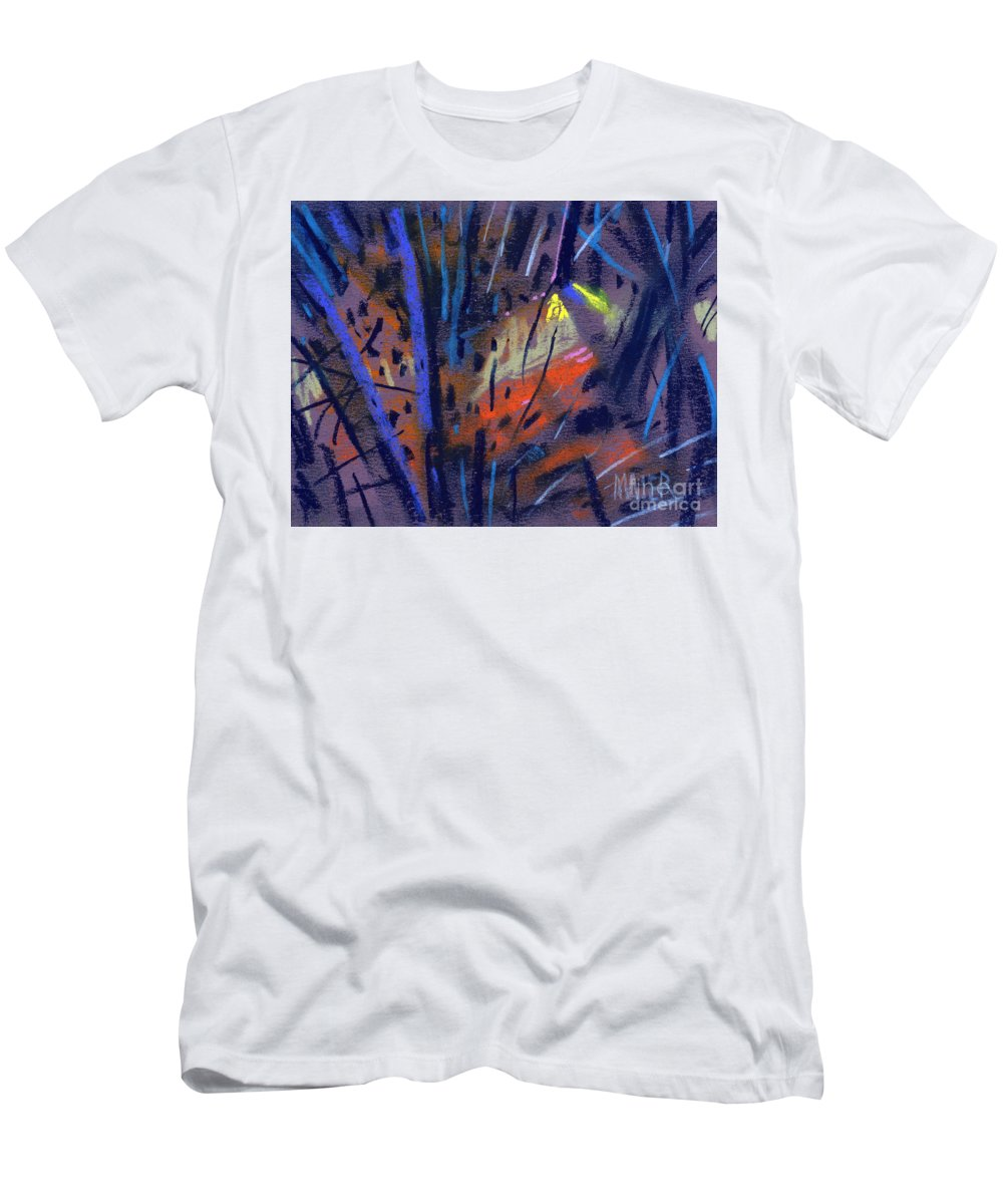 Abstract Men's T-Shirt (Athletic Fit) featuring the drawing strange Lights by Donald Maier