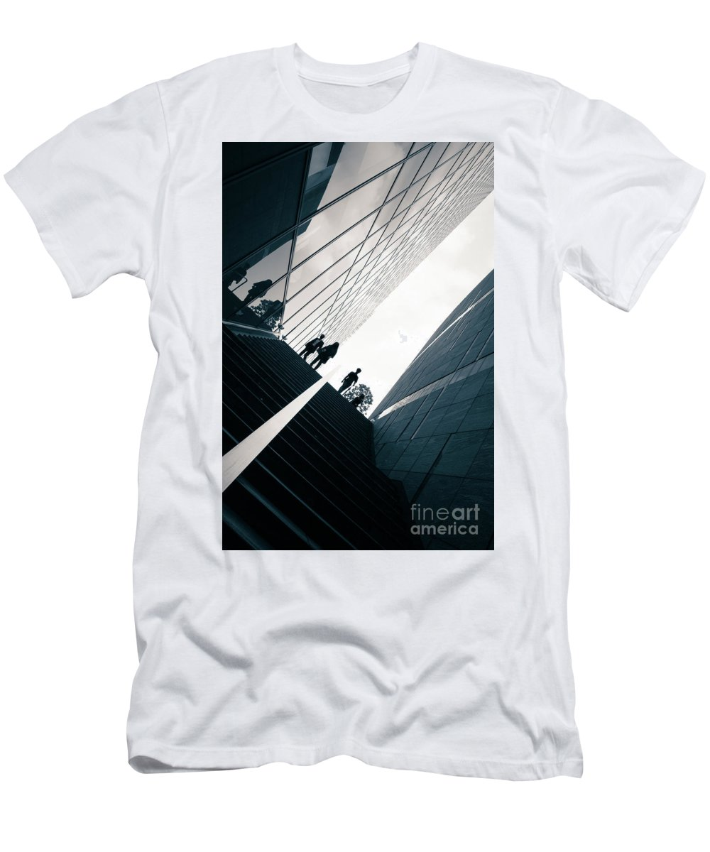 White Men's T-Shirt (Athletic Fit) featuring the photograph Street Photography Tokyo by Jane Rix