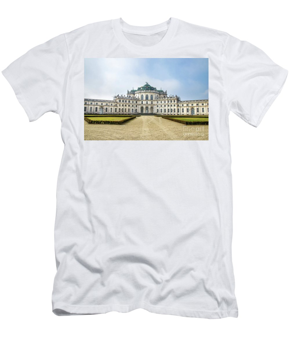 Alfieri Men's T-Shirt (Athletic Fit) featuring the photograph Stupinigi Palace - Turin - Piedmont Italy Region by Luca Lorenzelli