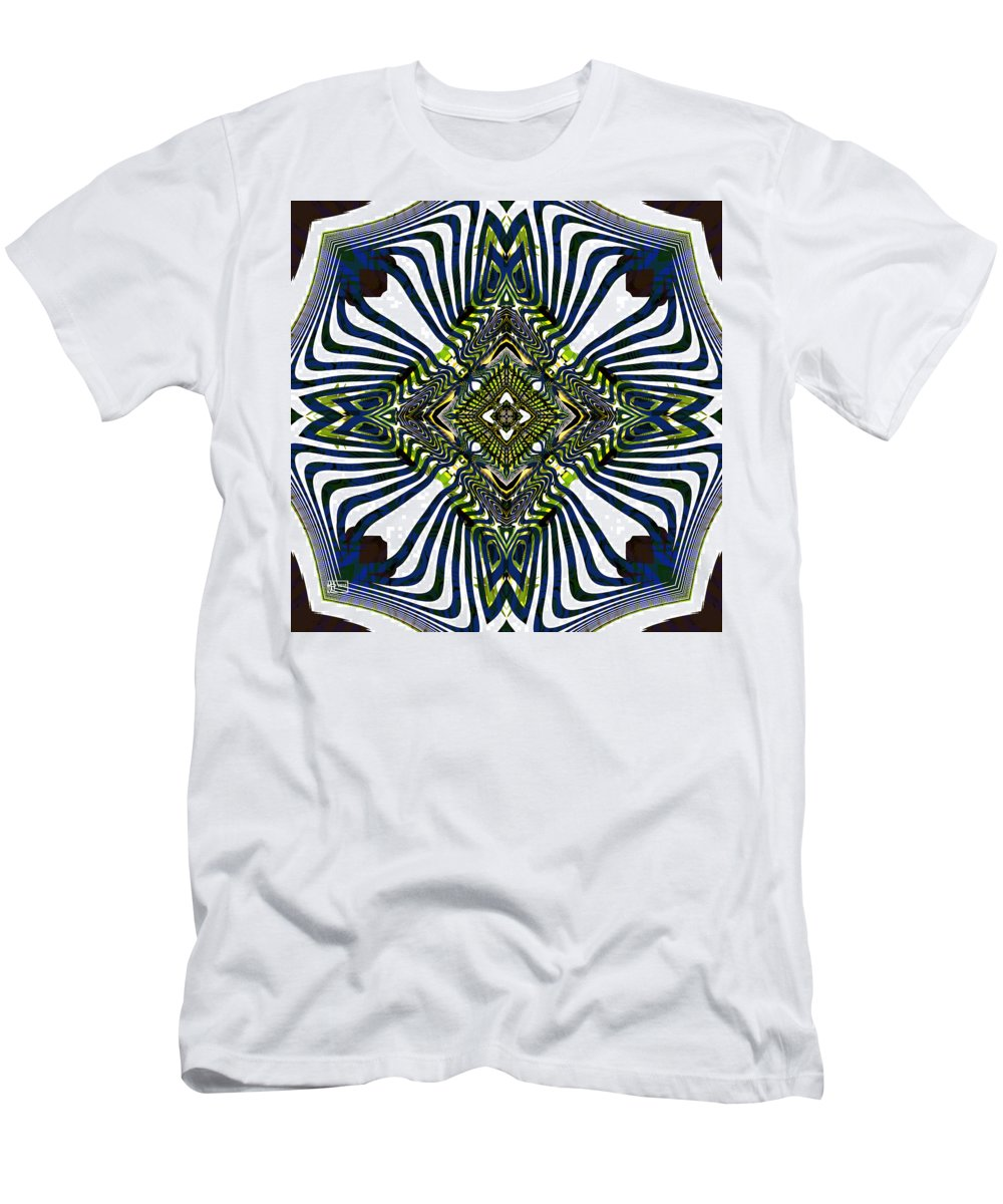 Abstract Men's T-Shirt (Athletic Fit) featuring the digital art Stylish Interior by Jim Pavelle