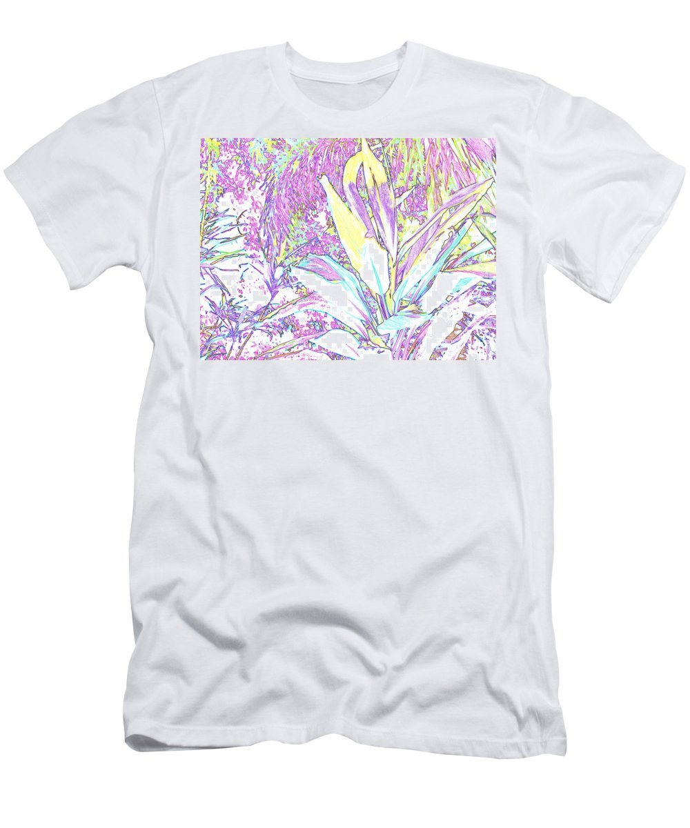 Abstract Men's T-Shirt (Athletic Fit) featuring the photograph Subtle Leaf by Ian MacDonald