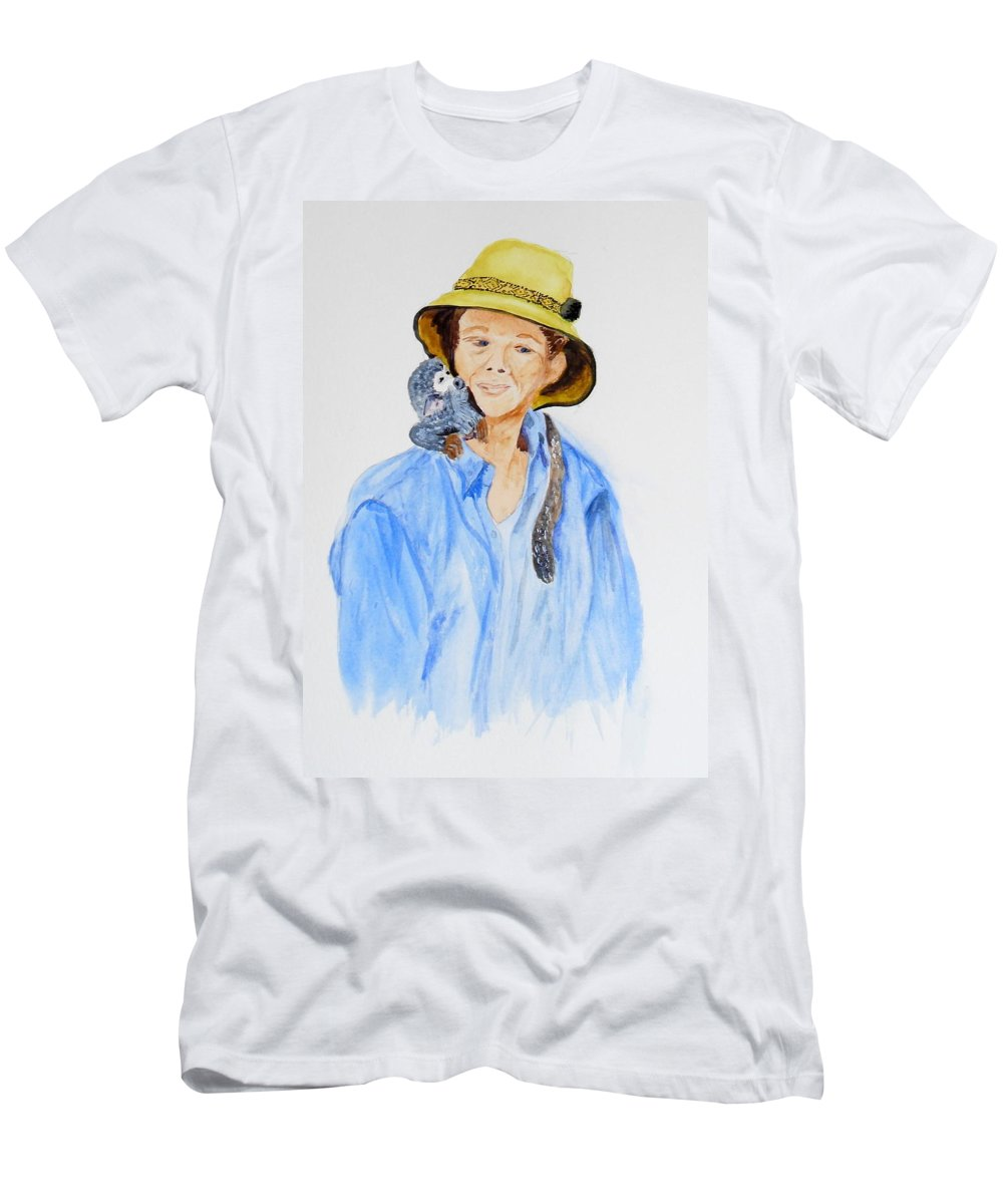 Equador Men's T-Shirt (Athletic Fit) featuring the painting Sue And Pepita by Vicki Housel
