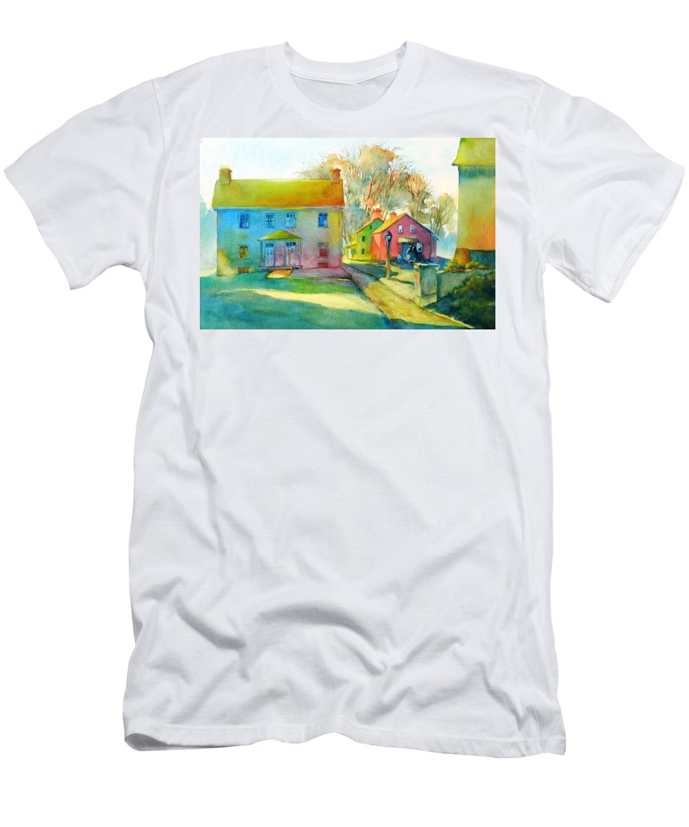 Watercolor T-Shirt featuring the painting Sugartown Shadows No 1 by Virgil Carter