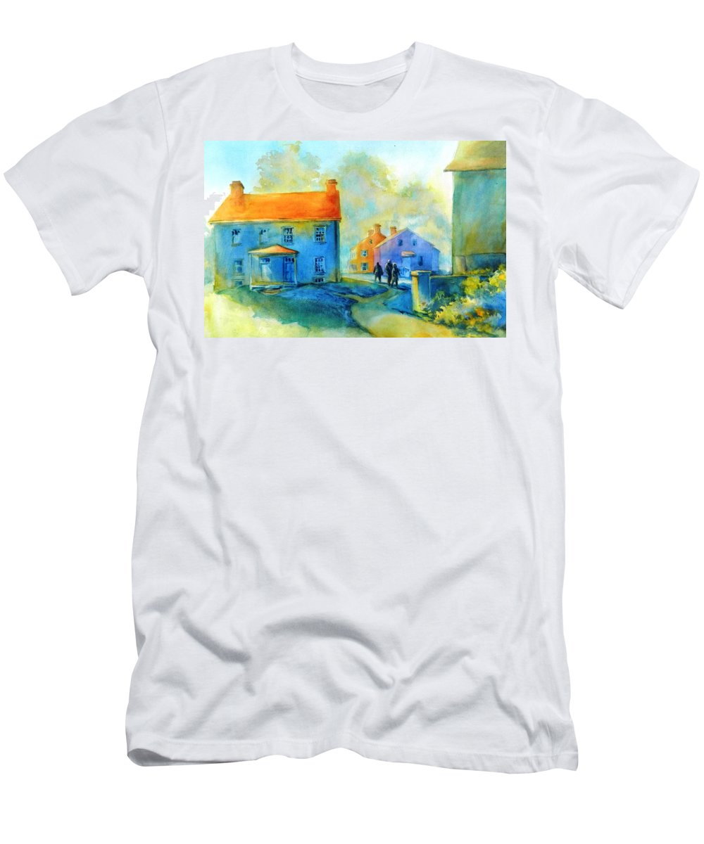 Watercolor T-Shirt featuring the painting Sugartown Shadows No 2 by Virgil Carter