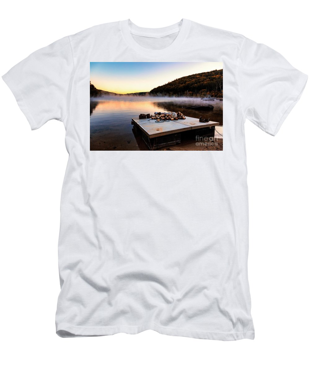 Lake Waramaug Men's T-Shirt (Athletic Fit) featuring the photograph Summer Is Over by Grant Dupill