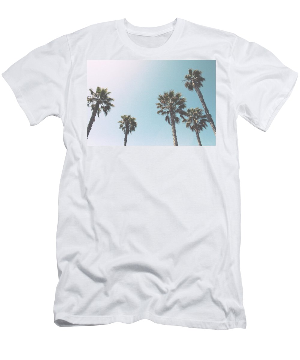 Palm Trees T-Shirt featuring the photograph Summer Sky- by Linda Woods by Linda Woods