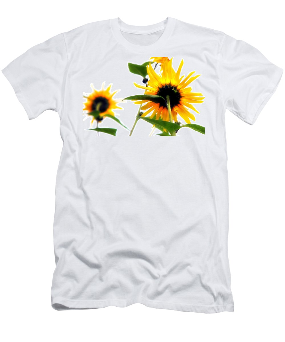 Sunflowers Men's T-Shirt (Athletic Fit) featuring the photograph Sunflowers by Mal Bray