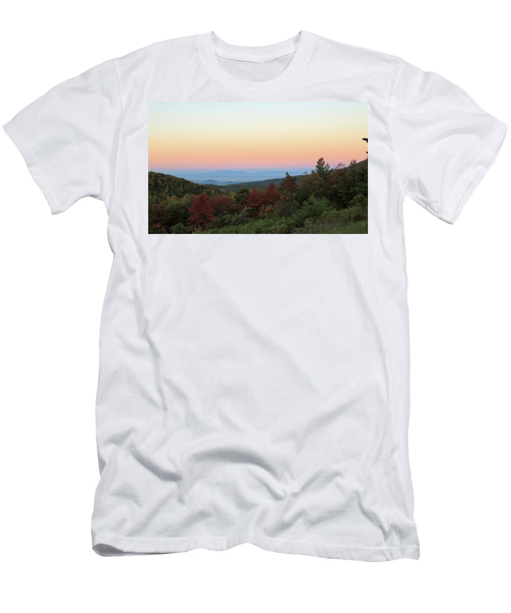 Photosbymch Men's T-Shirt (Athletic Fit) featuring the photograph Sunrise Over The Shenandoah Valley by M C Hood