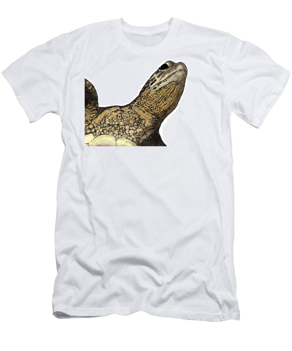 Sea Turtle Men's T-Shirt (Athletic Fit) featuring the drawing Surface by David Weaver