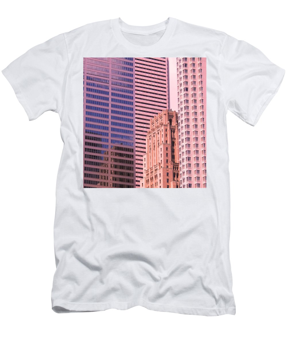 Office Buildings Men's T-Shirt (Athletic Fit) featuring the photograph Surrounded by Ian MacDonald