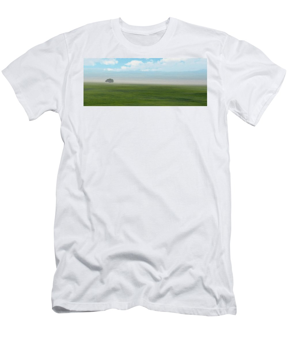 Minimalism Men's T-Shirt (Athletic Fit) featuring the digital art Survivor by Richard Rizzo