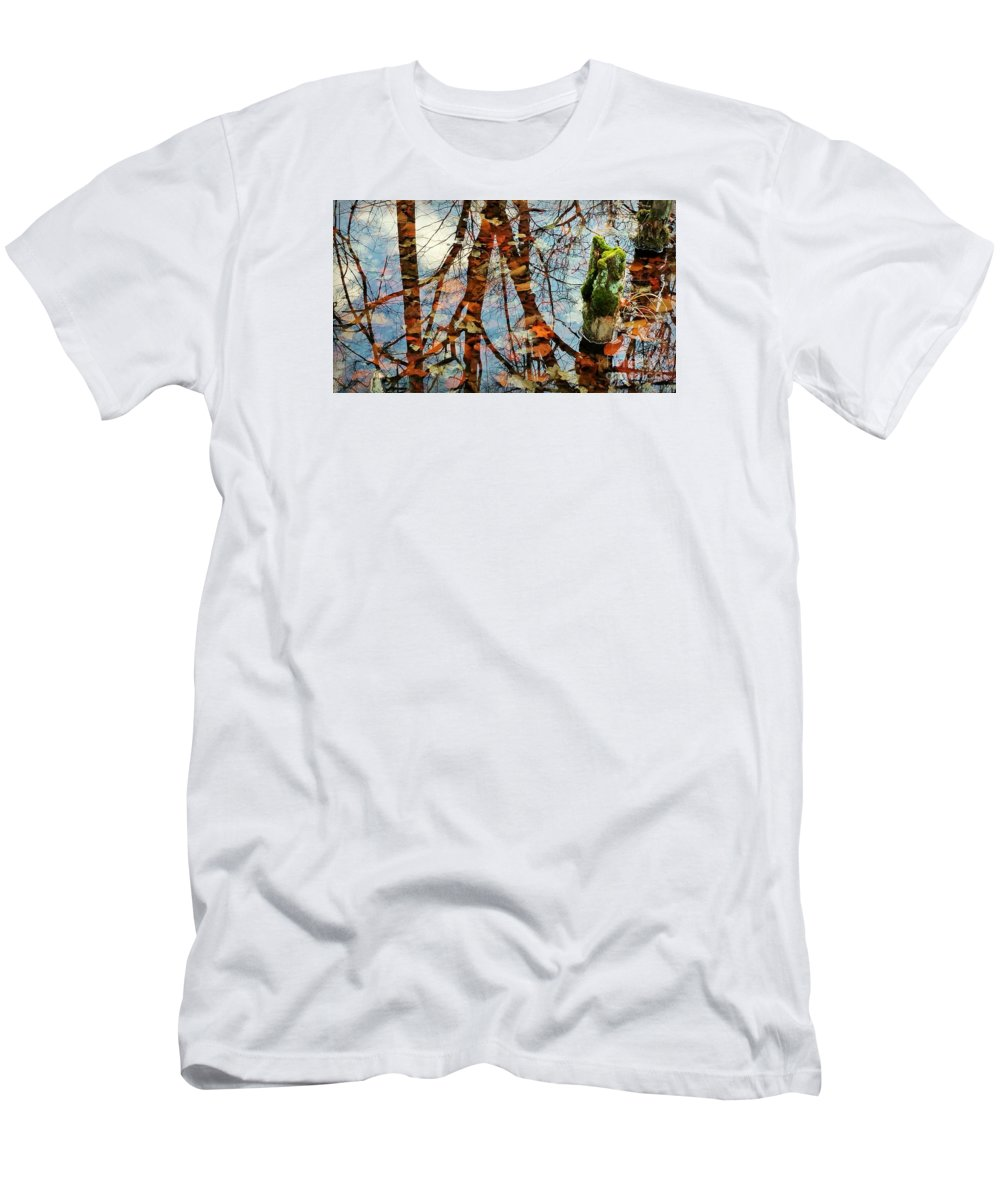 Swamp Men's T-Shirt (Athletic Fit) featuring the photograph Swamp Reflections by Beth Ferris Sale