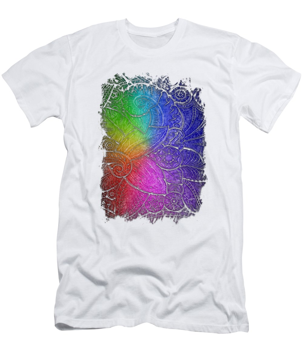 Cool Rainbow T-Shirt featuring the photograph Swan Dance Cool Rainbow 3 Dimensional by Di Designs
