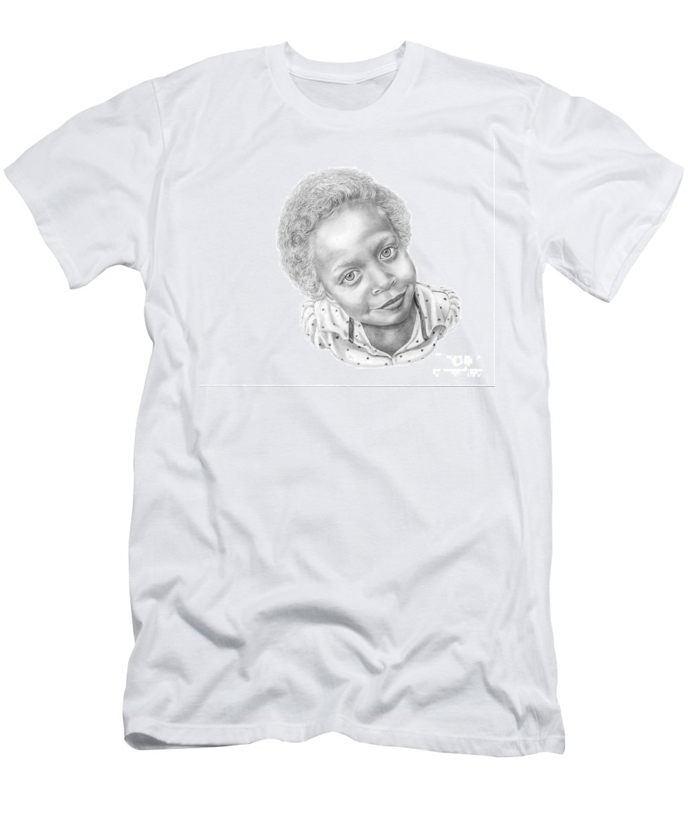 Portrait Men's T-Shirt (Athletic Fit) featuring the drawing Sweet Eyes by Murphy Elliott