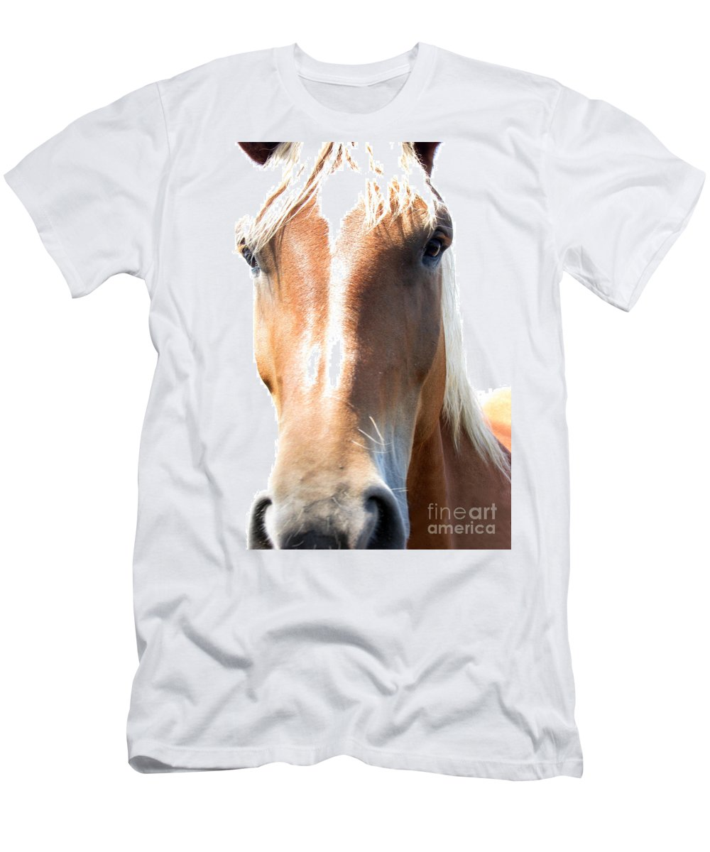 Horse Men's T-Shirt (Athletic Fit) featuring the photograph Sweetie by Amanda Barcon