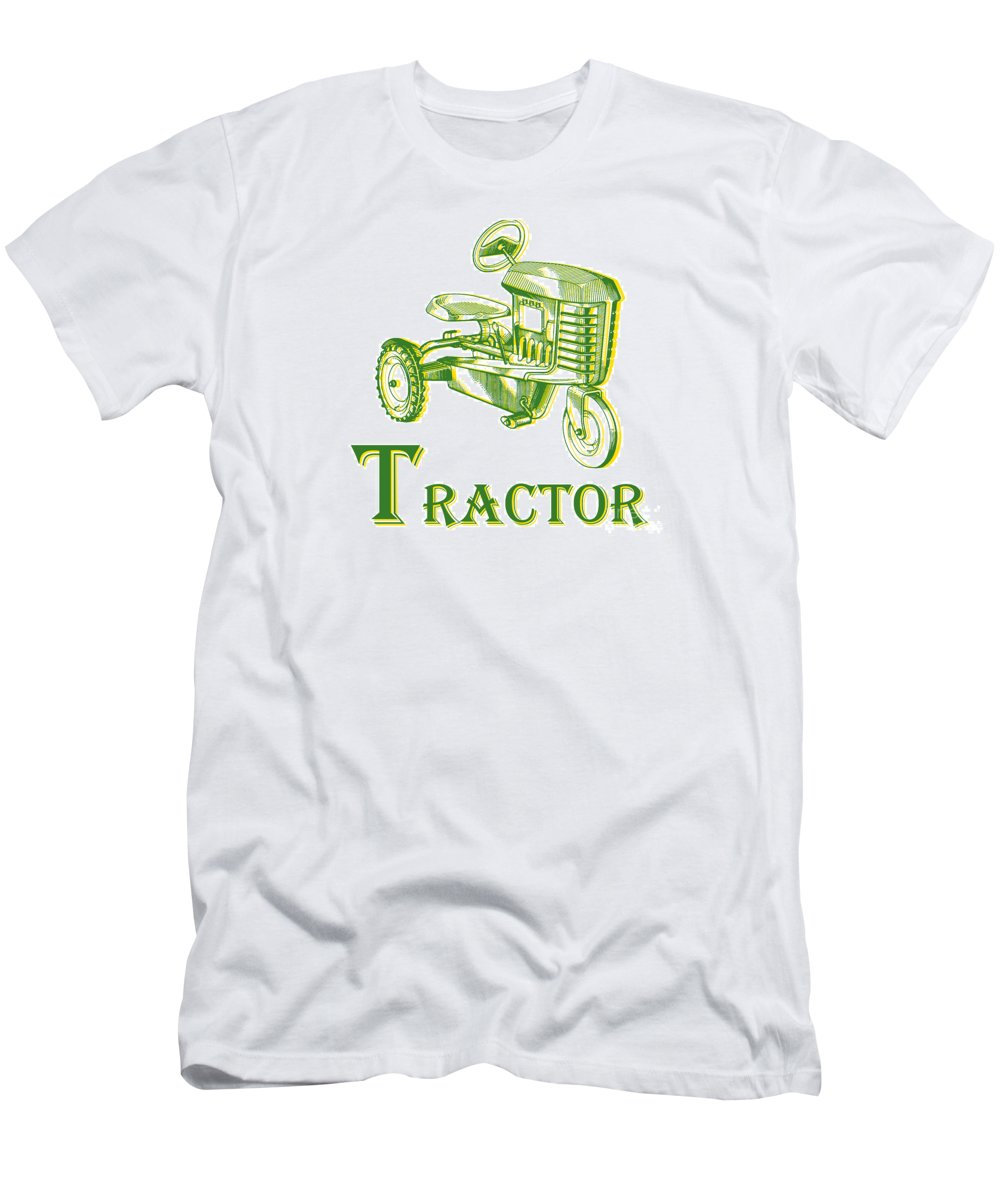 Letter T-Shirt featuring the photograph T Is For Tractor by Edward Fielding