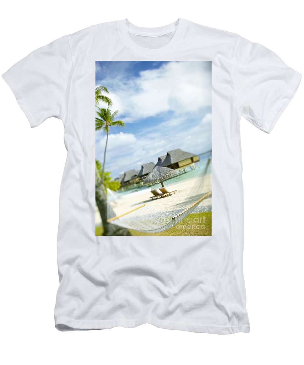 10-pfs0158 Men's T-Shirt (Athletic Fit) featuring the photograph Tahiti, Bora Bora by Kyle Rothenborg - Printscapes