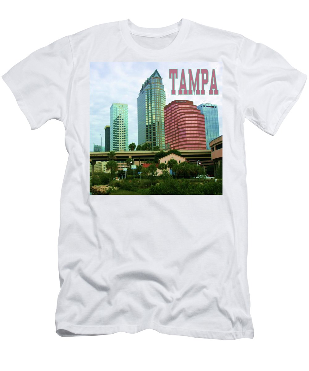 Photo For Sale Men's T-Shirt (Athletic Fit) featuring the photograph Tampa From The River Tote by Robert Wilder Jr
