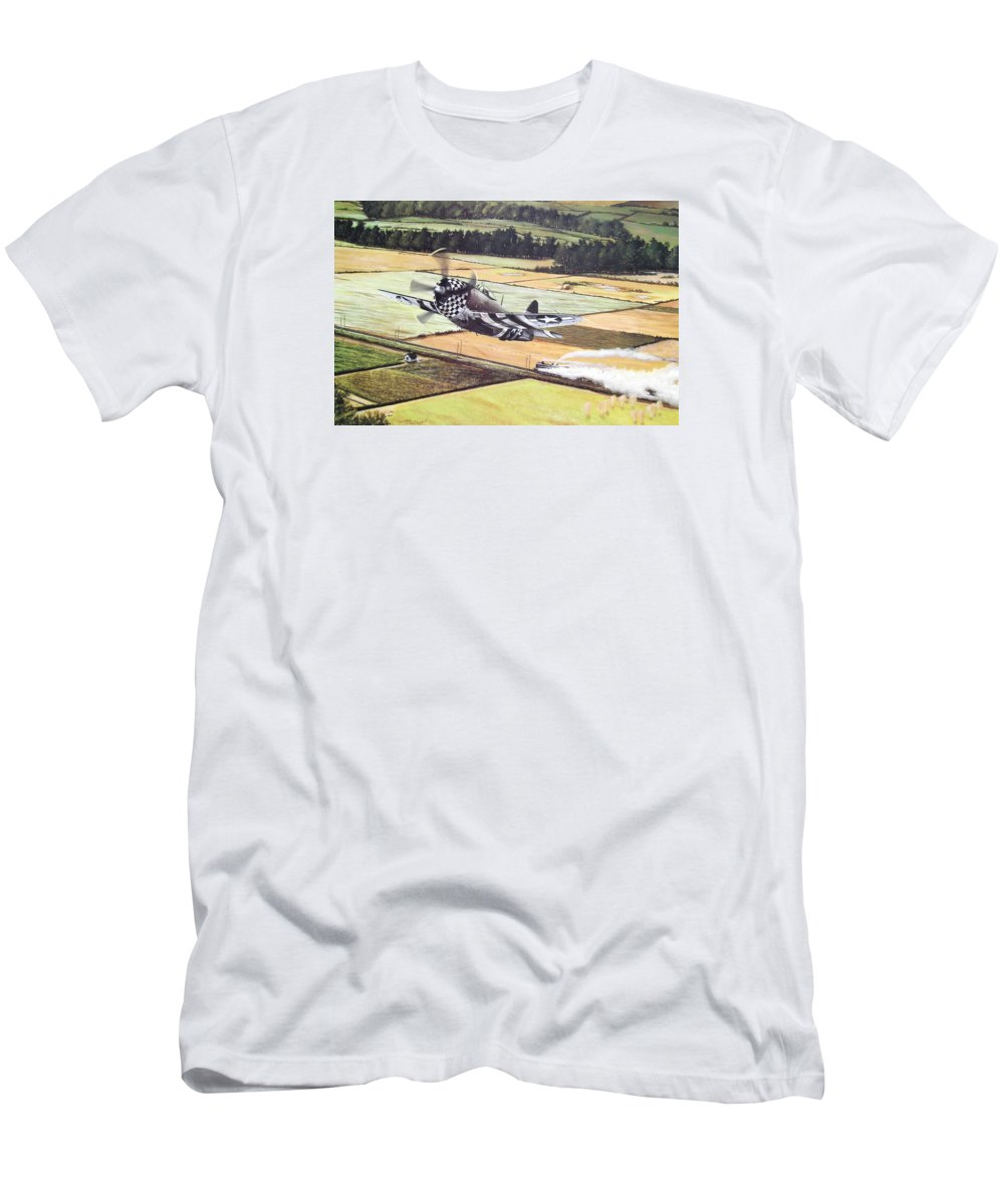 Military T-Shirt featuring the painting Target Of Opportunity by Marc Stewart