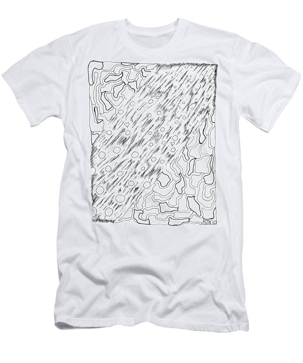 Abstract Men's T-Shirt (Athletic Fit) featuring the drawing Tattvadarzin by Steven Natanson