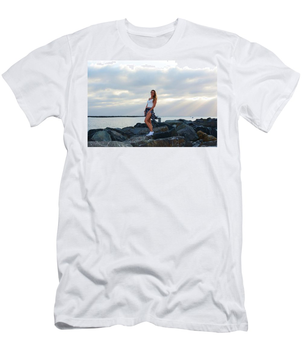 Fashion Men's T-Shirt (Athletic Fit) featuring the photograph Taylor 019 by Remegio Dalisay