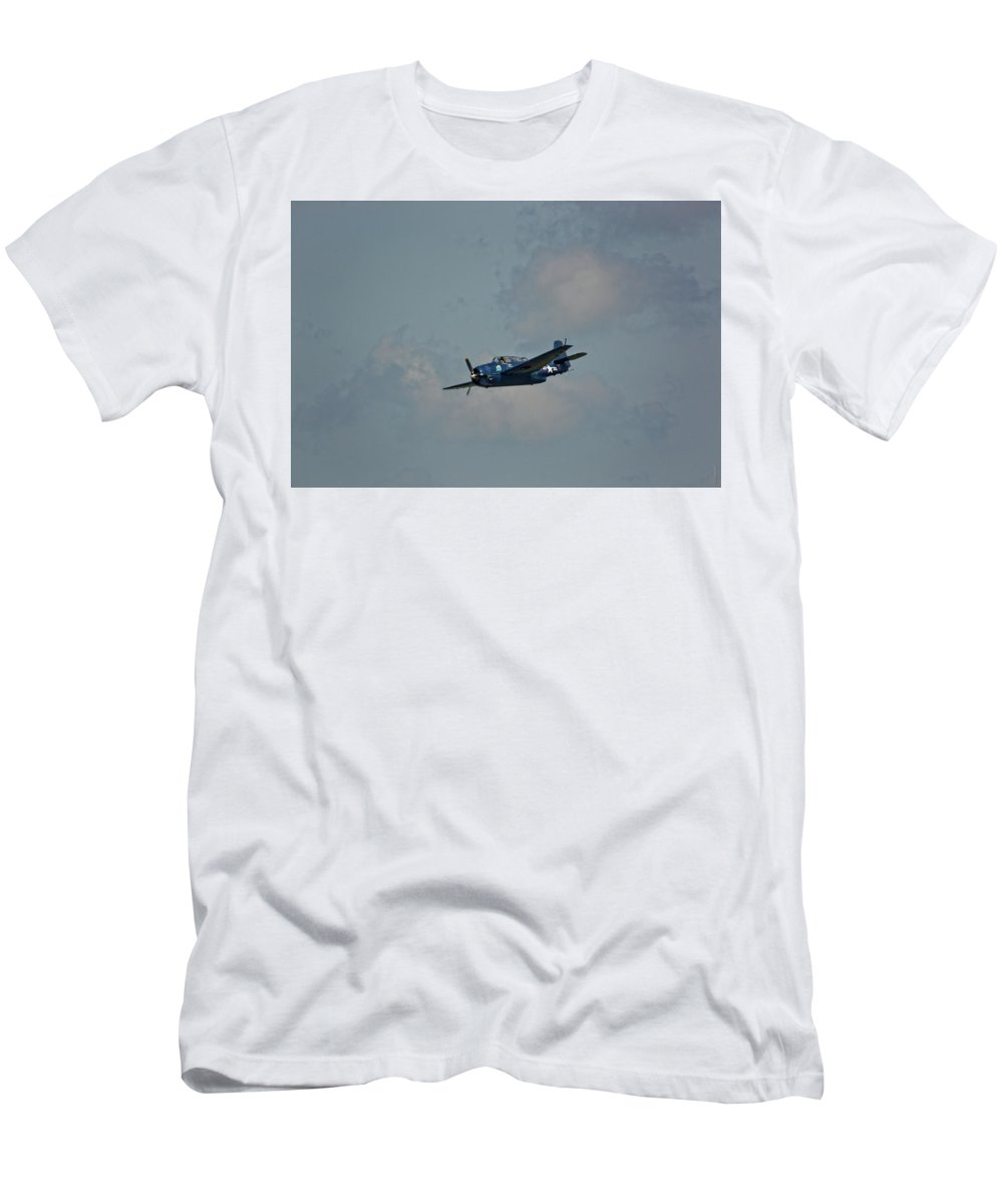 South Dakota Men's T-Shirt (Athletic Fit) featuring the photograph Tbm Avenger Torpedo Bomber by M Dale