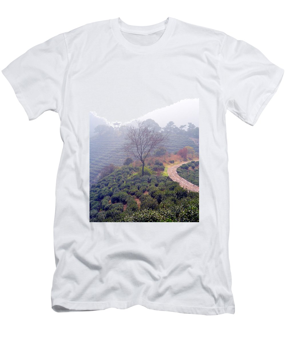 Tea Men's T-Shirt (Athletic Fit) featuring the photograph Tea Field by James O Thompson