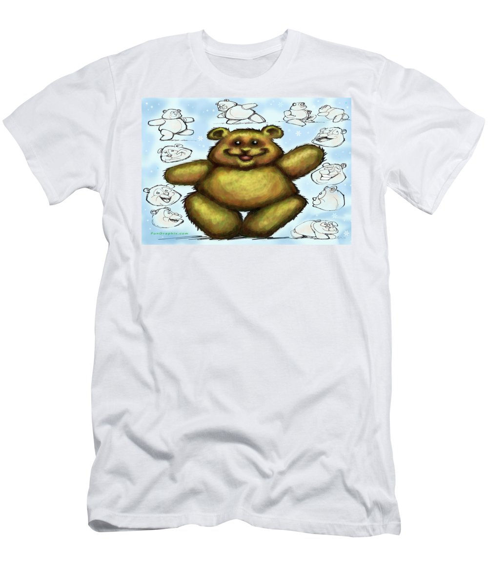 Bear Men's T-Shirt (Athletic Fit) featuring the painting Teddy Bear by Kevin Middleton