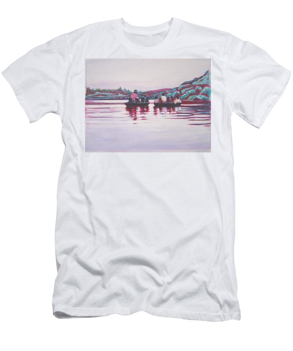 Teppa Men's T-Shirt (Athletic Fit) featuring the painting Teppa Ride by Usha Shantharam