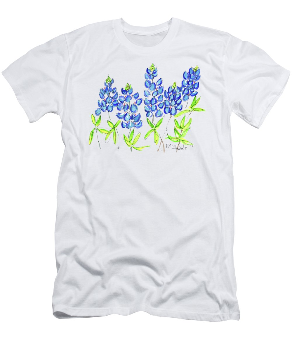 9785dc1084ce8 Paint It Yourself Men's T-Shirt (Athletic Fit) featuring the painting Texas  Bluebonnets