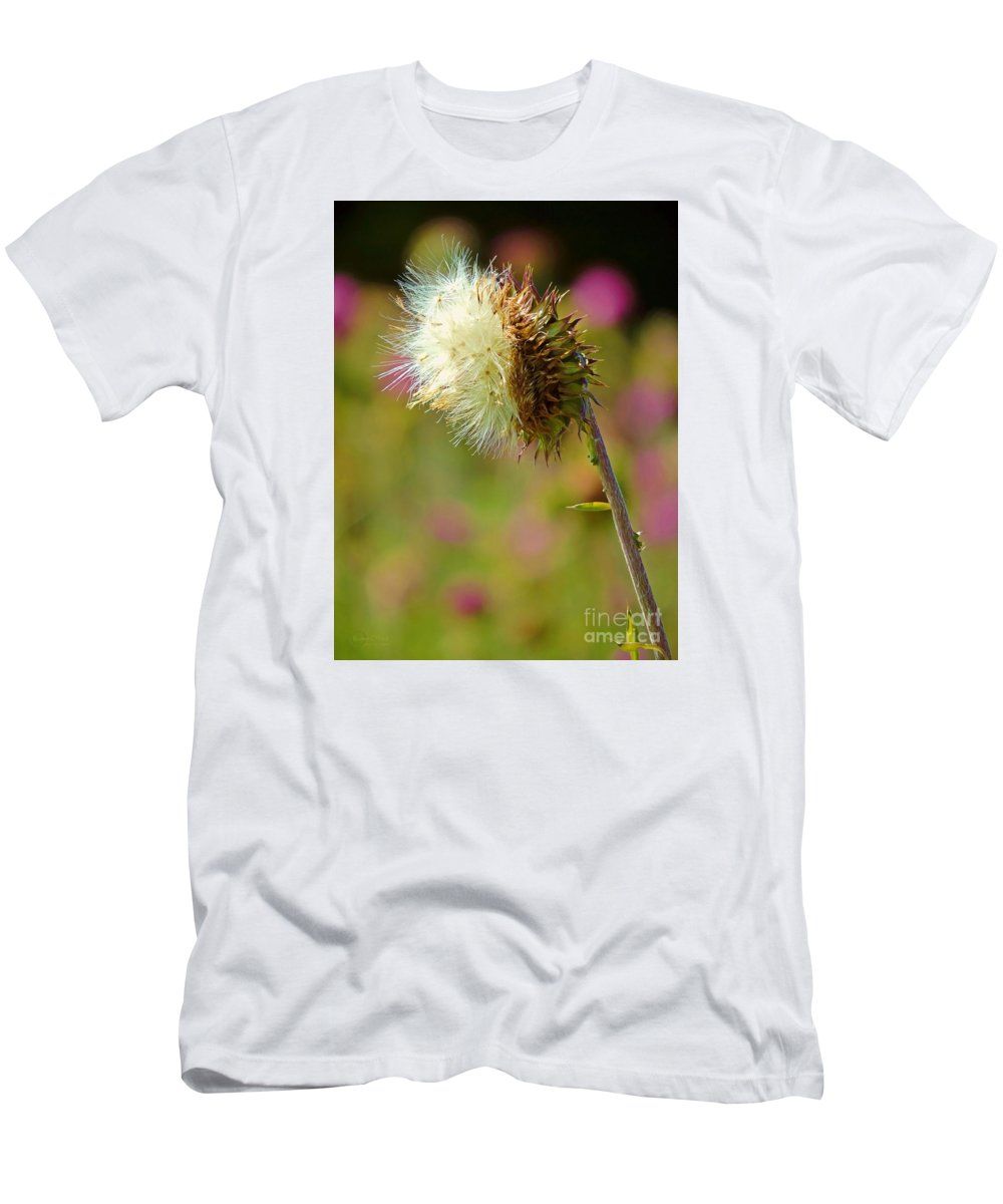 Texas Thistle Men's T-Shirt (Athletic Fit) featuring the photograph Texas Thistle 005 by Robert ONeil