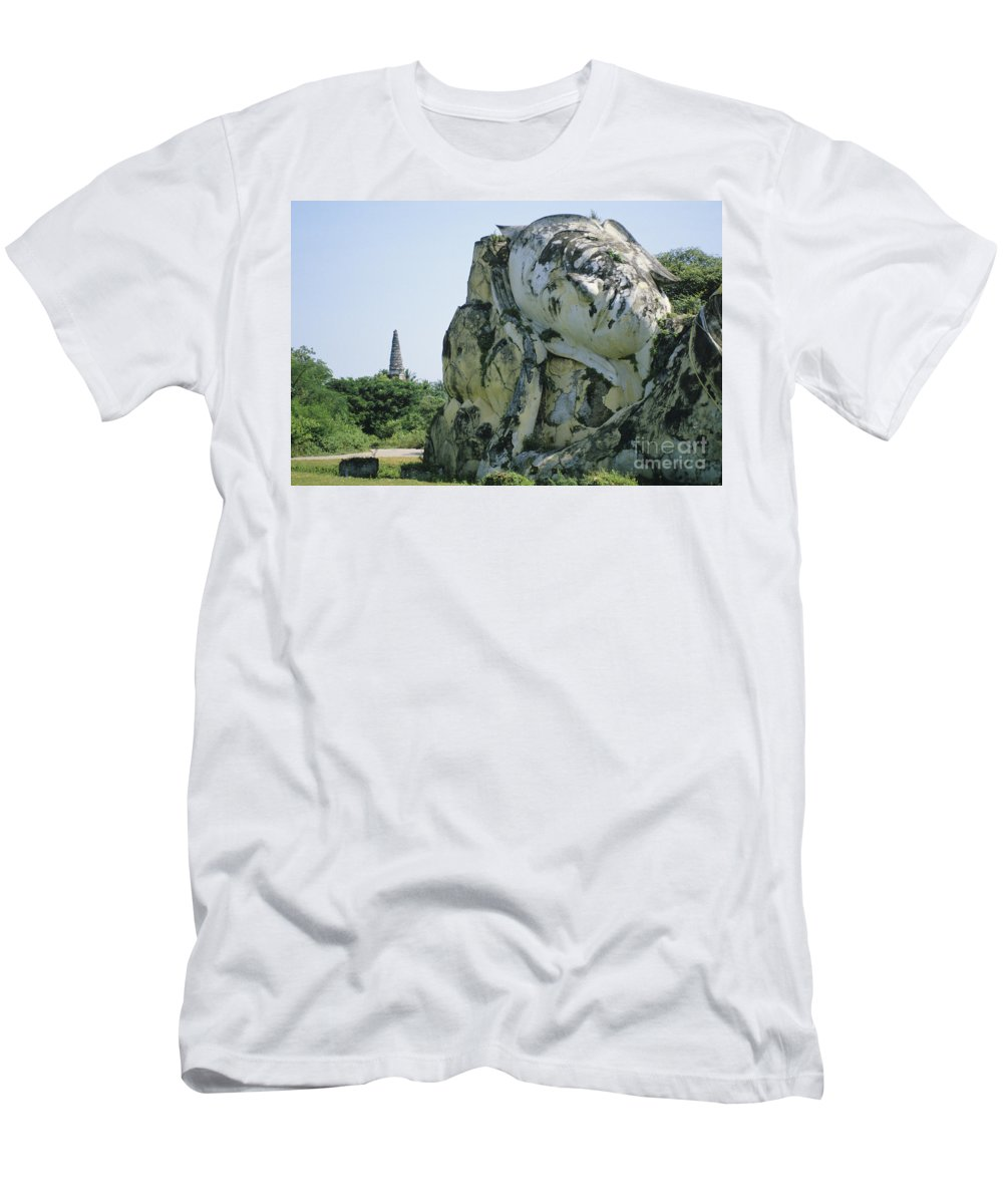 Ancient Men's T-Shirt (Athletic Fit) featuring the photograph Thailand, Ayuttahaya by Gloria & Richard Maschmeyer - Printscapes