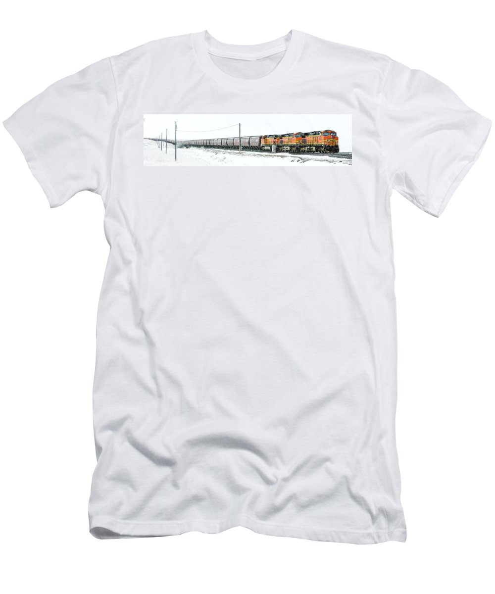 Bnsf T-Shirt featuring the photograph The 11 15 Panorama by Todd Klassy