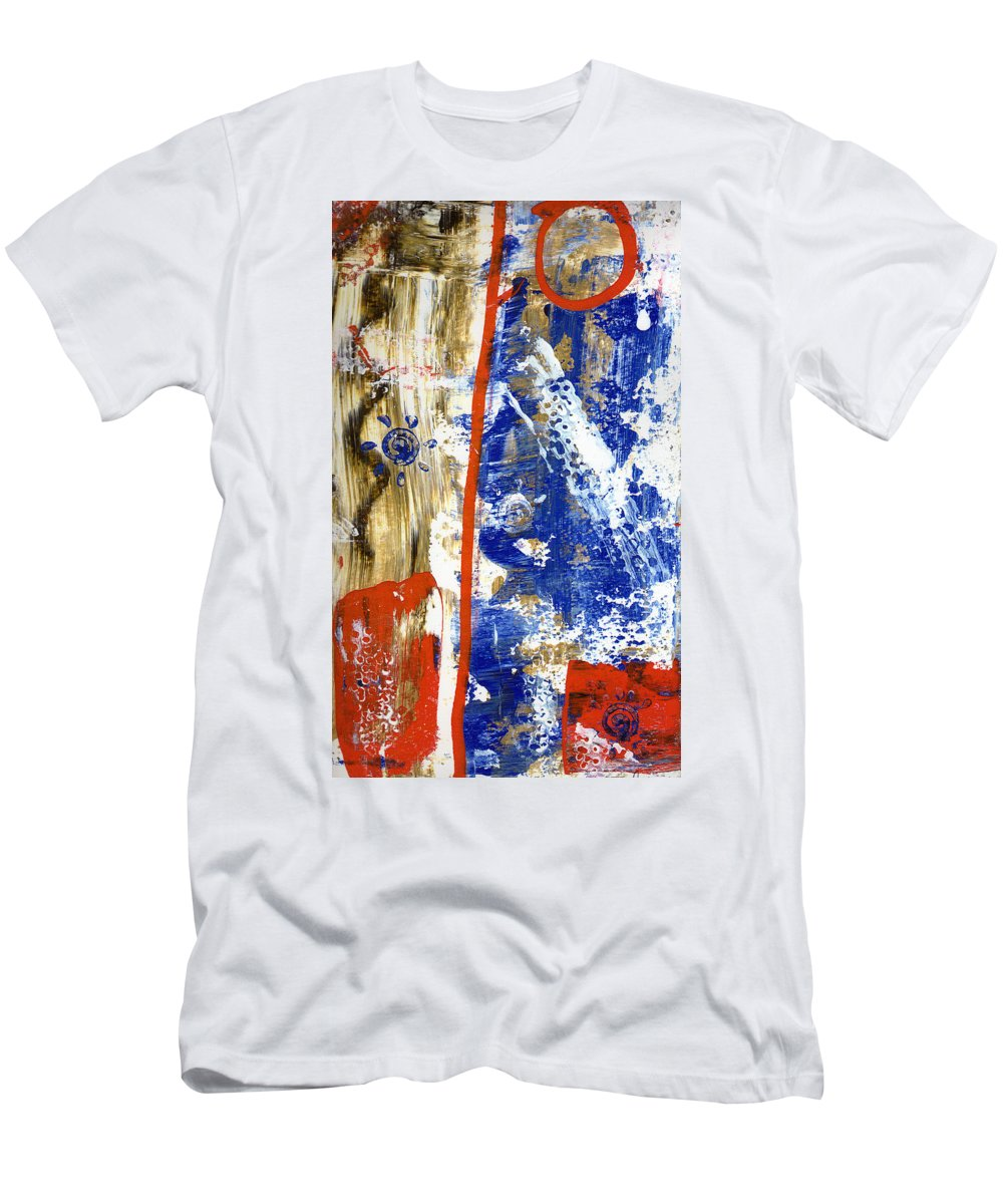 Abstract Men's T-Shirt (Athletic Fit) featuring the painting The 4th by Wayne Potrafka