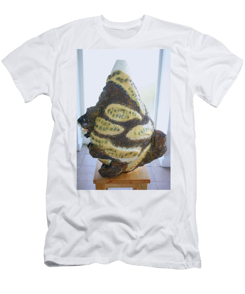 Jesus Men's T-Shirt (Athletic Fit) featuring the sculpture The Animal Cell - View One by Gloria Ssali