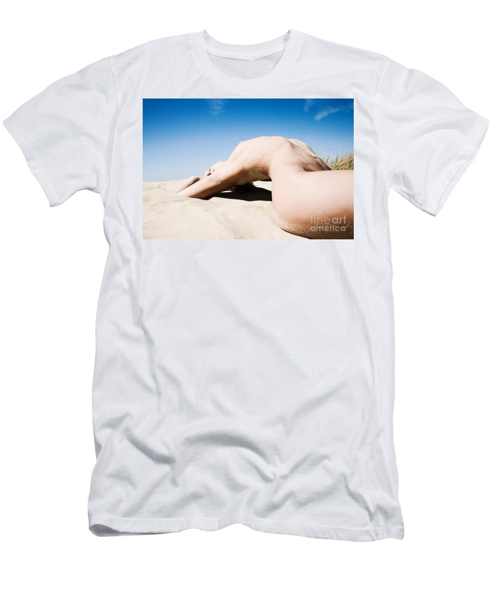 Sensual Men's T-Shirt (Athletic Fit) featuring the photograph The Bridge by Olivier De Rycke