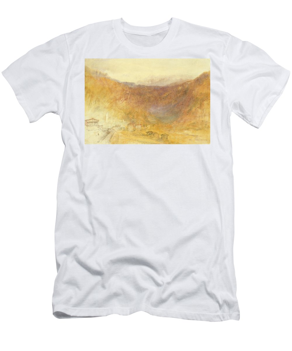 The Men's T-Shirt (Athletic Fit) featuring the painting The Brunig Pass From Meiringen by Joseph Mallord William Turner