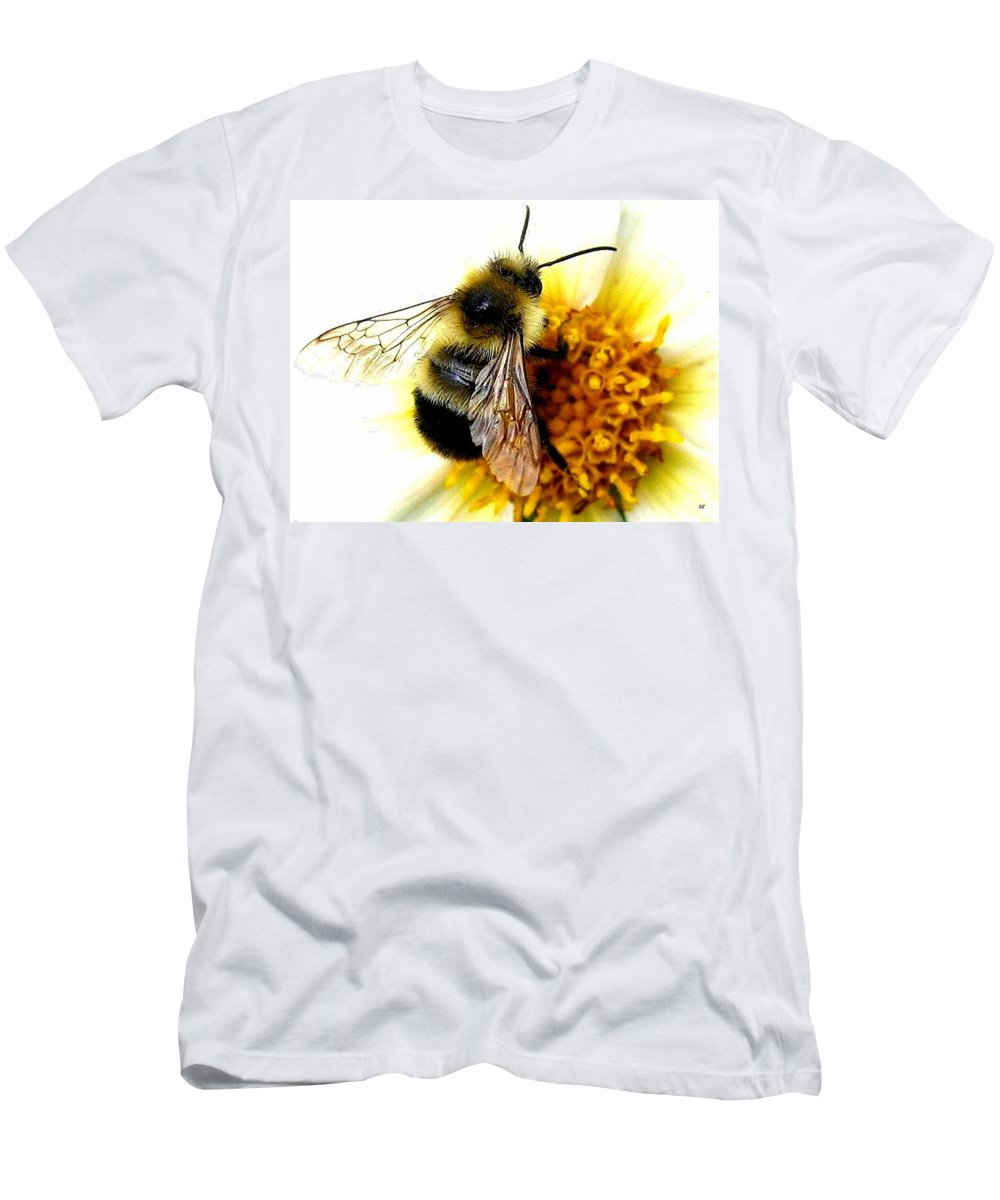 Honeybee Men's T-Shirt (Athletic Fit) featuring the photograph The Buzz by Will Borden