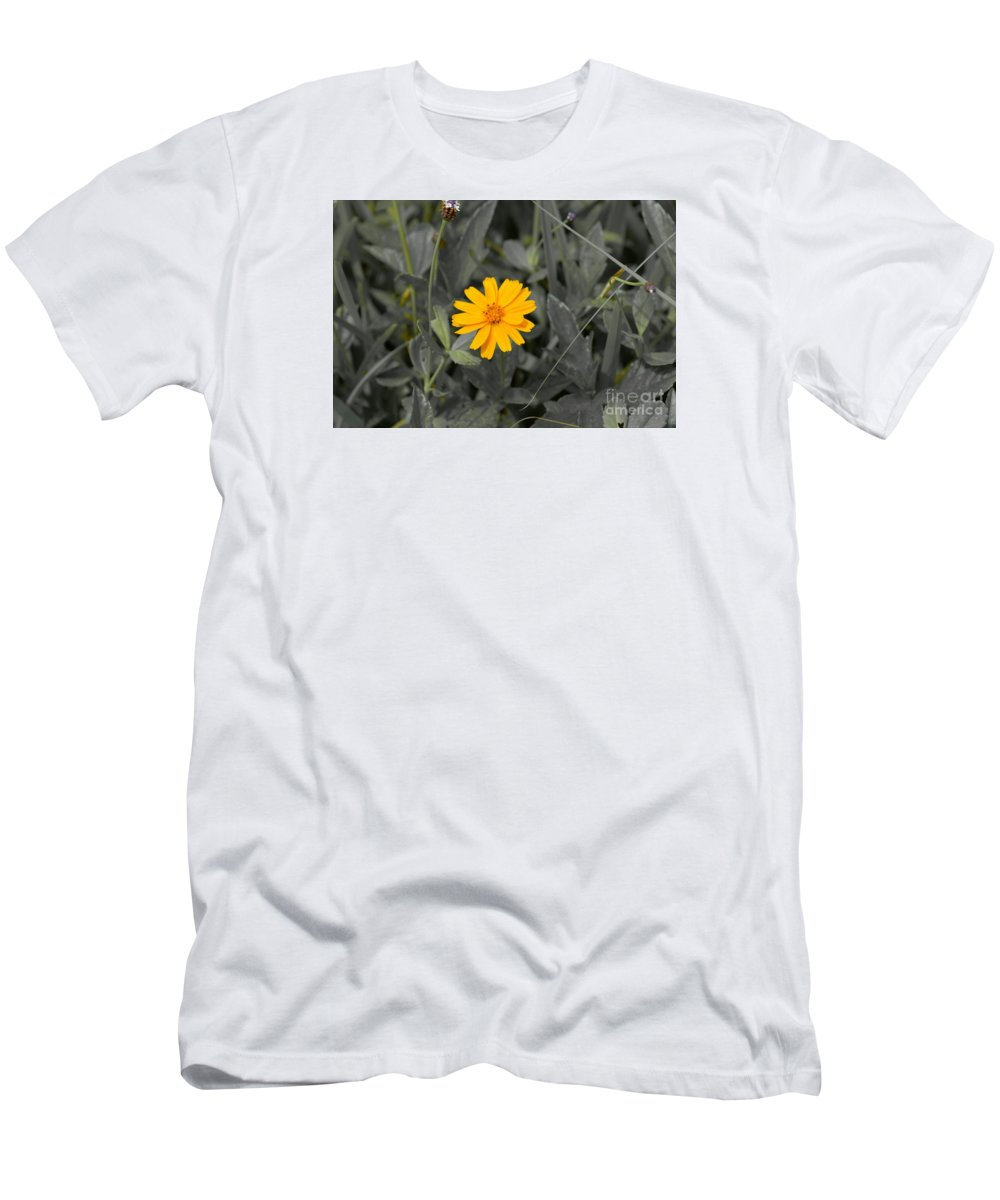 Flower Men's T-Shirt (Athletic Fit) featuring the photograph The Color Of A Unike Flower by Ariel Delgado