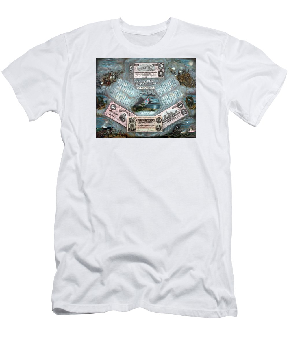 Civil War Men's T-Shirt (Athletic Fit) featuring the painting The Confederate Note Memorial by War Is Hell Store