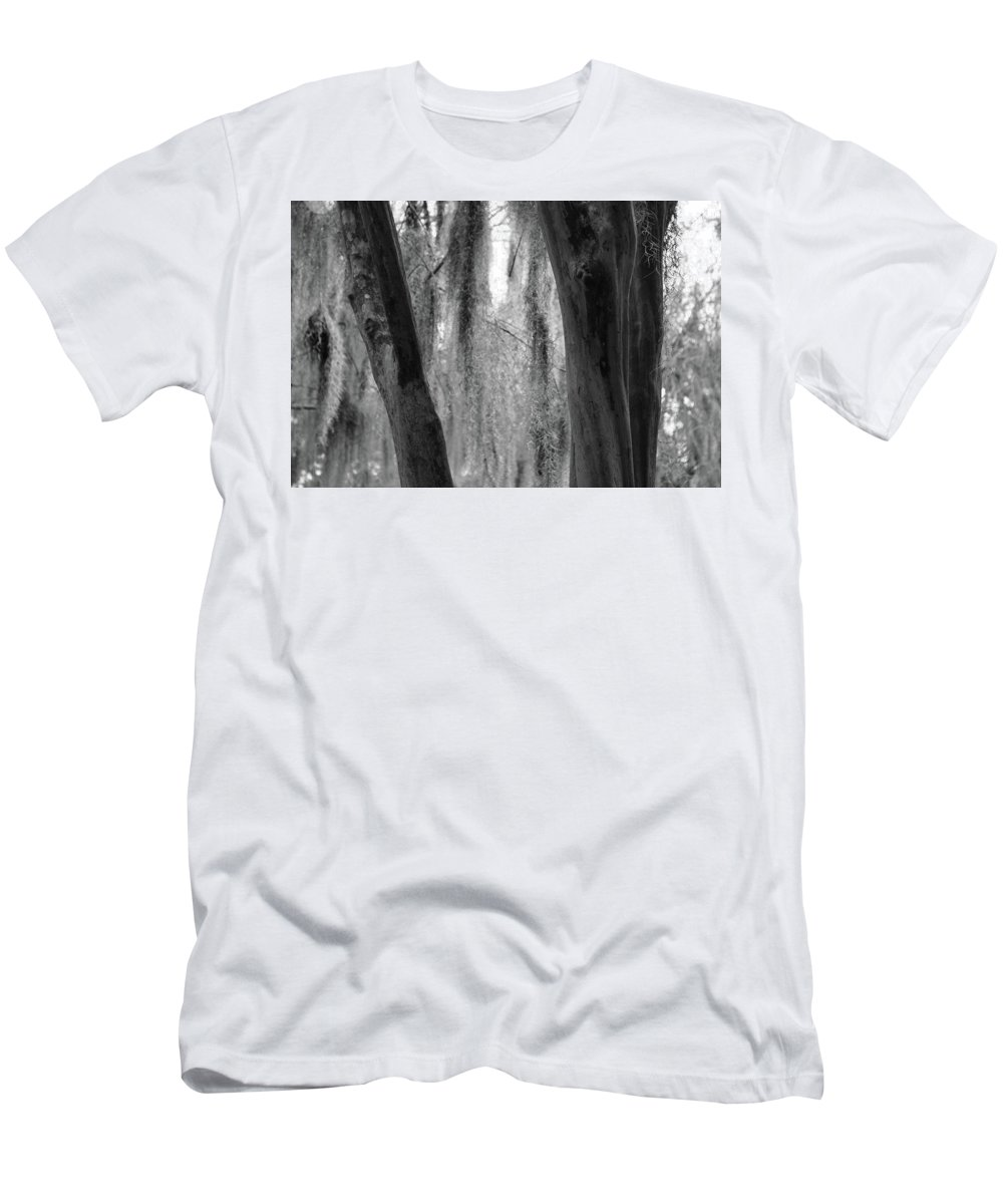 Tree Men's T-Shirt (Athletic Fit) featuring the photograph Cypress In The Bayou by Jenny Regan