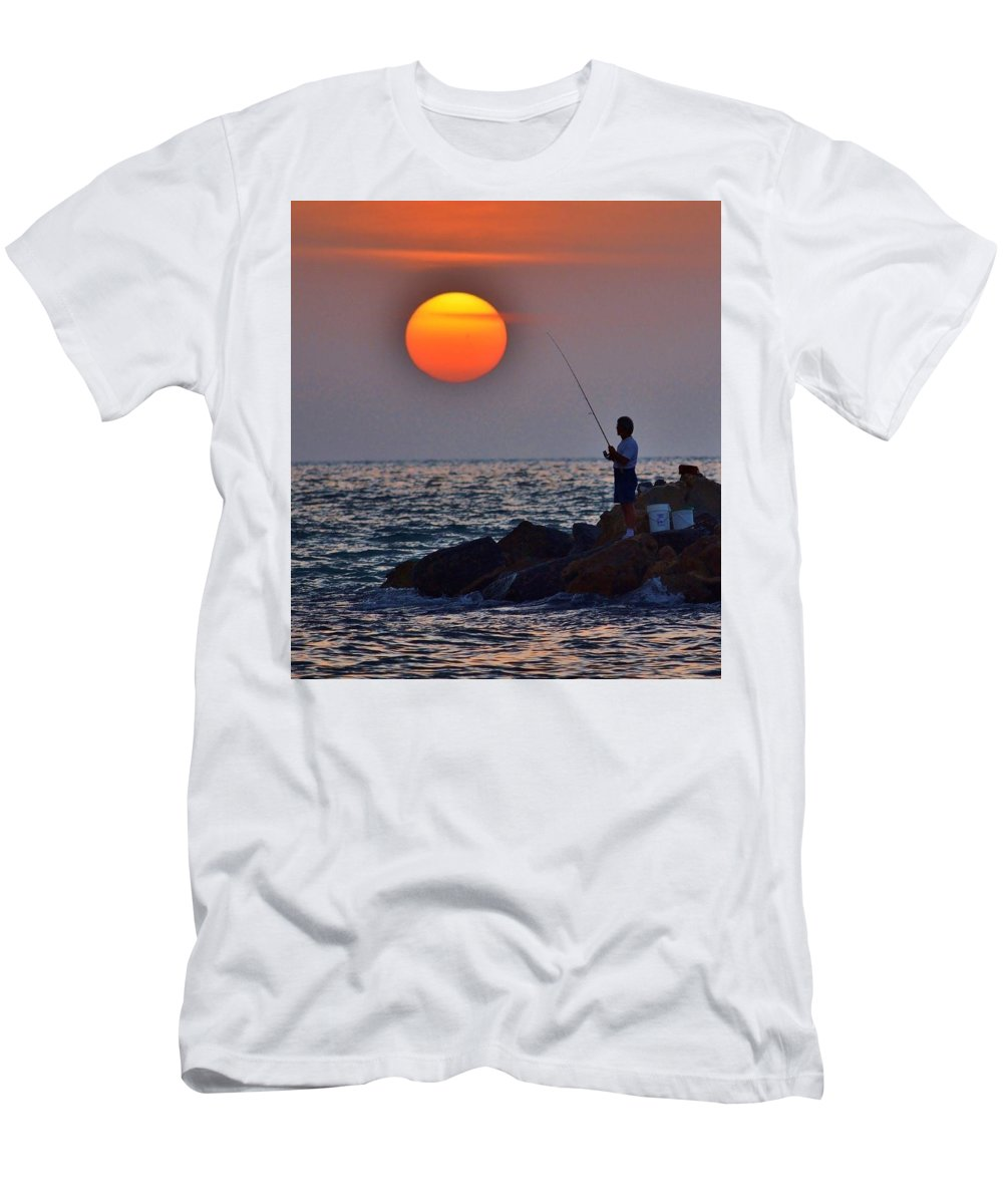 Landscape Men's T-Shirt (Athletic Fit) featuring the photograph The End Of The Line by Joseph Bruno Pelle