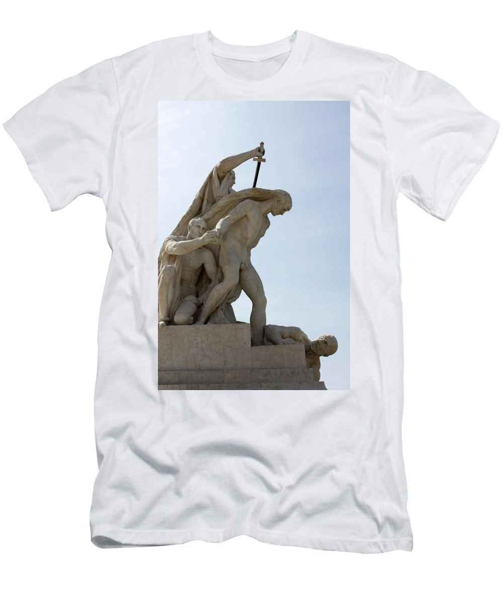 Execution Men's T-Shirt (Athletic Fit) featuring the photograph The Execution by Munir Alawi