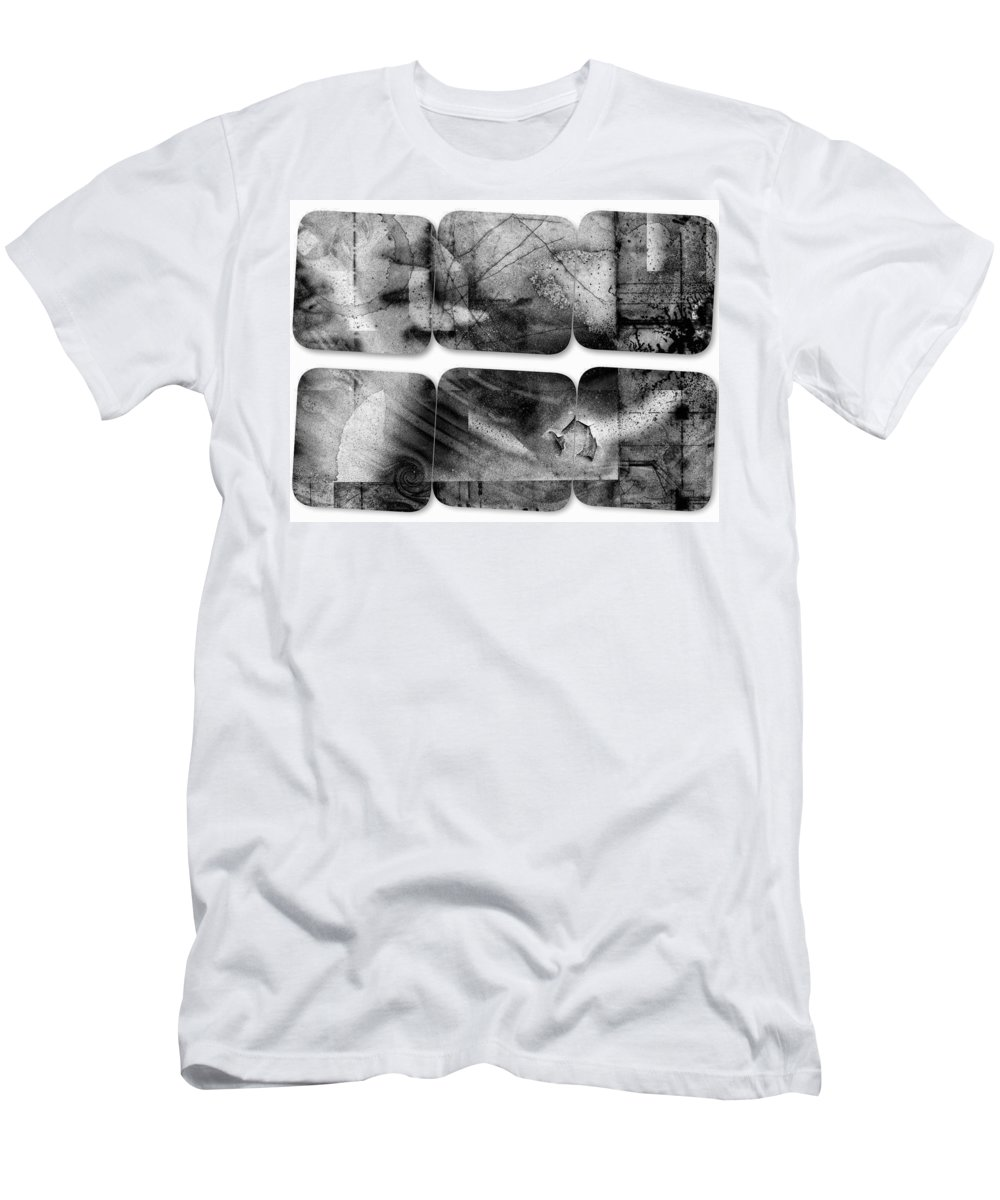 Black & White Men's T-Shirt (Athletic Fit) featuring the photograph The Explained Square by Contemporary Art