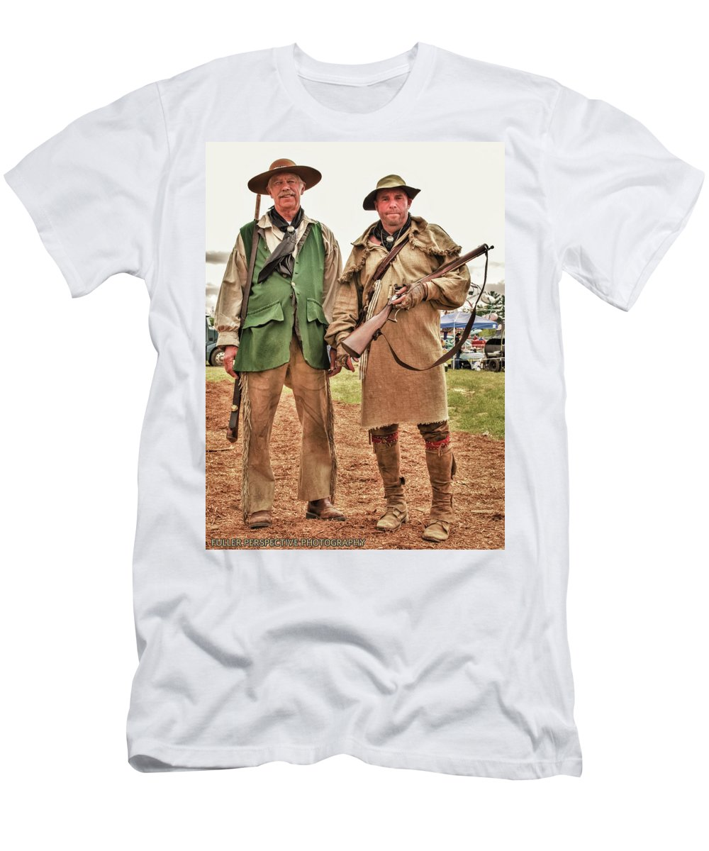 Reenactments Men's T-Shirt (Athletic Fit) featuring the photograph The Frontiersmen by Chad Fuller