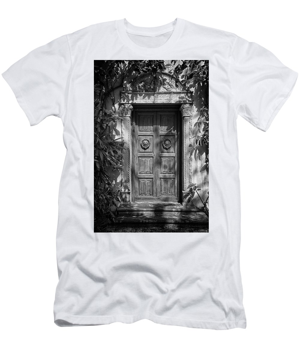 The Garden Tomb Men's T-Shirt (Athletic Fit) featuring the photograph The Garden Tomb by Don Columbus