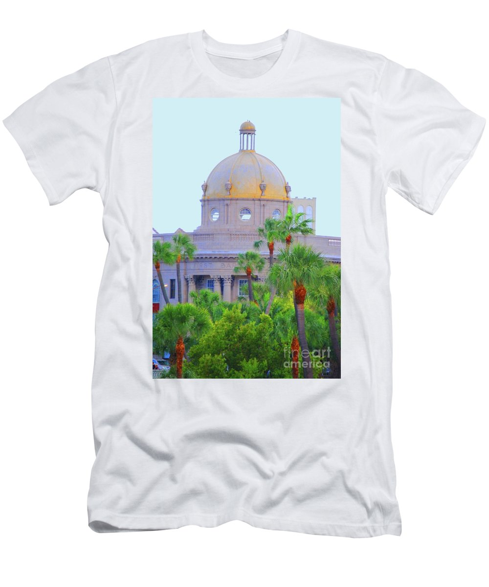 Church Men's T-Shirt (Athletic Fit) featuring the photograph The Gold Dome by Jost Houk