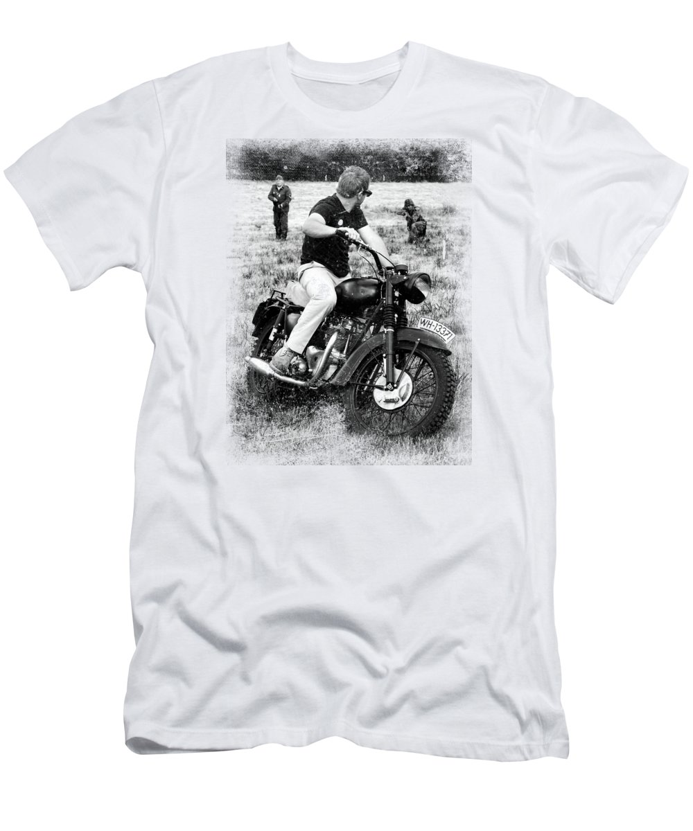 Triumph Men's T-Shirt (Athletic Fit) featuring the photograph The Great Escape by Mark Rogan