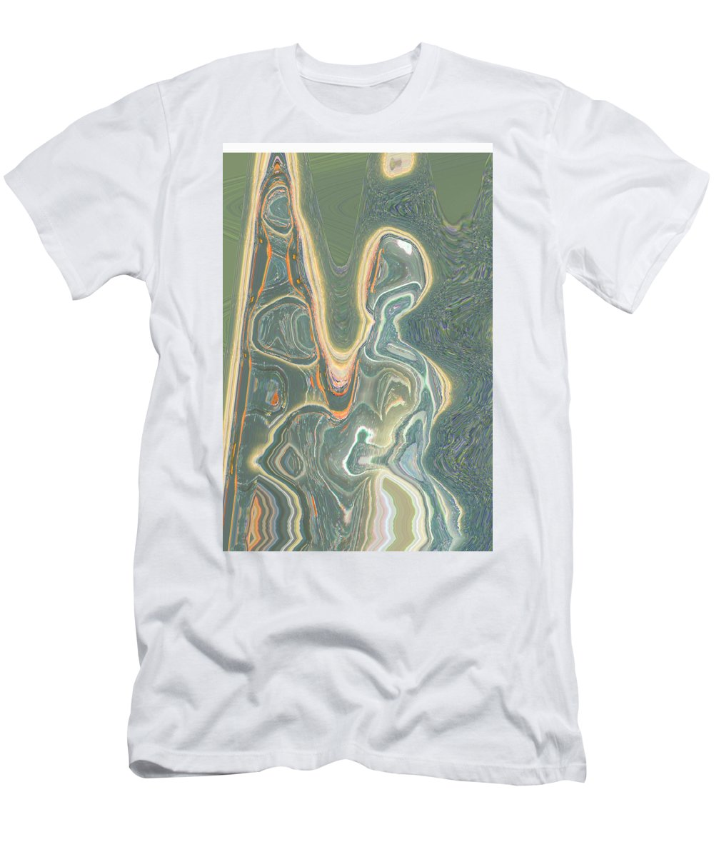Abstract Men's T-Shirt (Athletic Fit) featuring the digital art The Harp Player by Lenore Senior